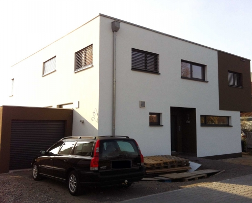 Neubau eines Einfamilienhauses mit Garage – Lampertheim